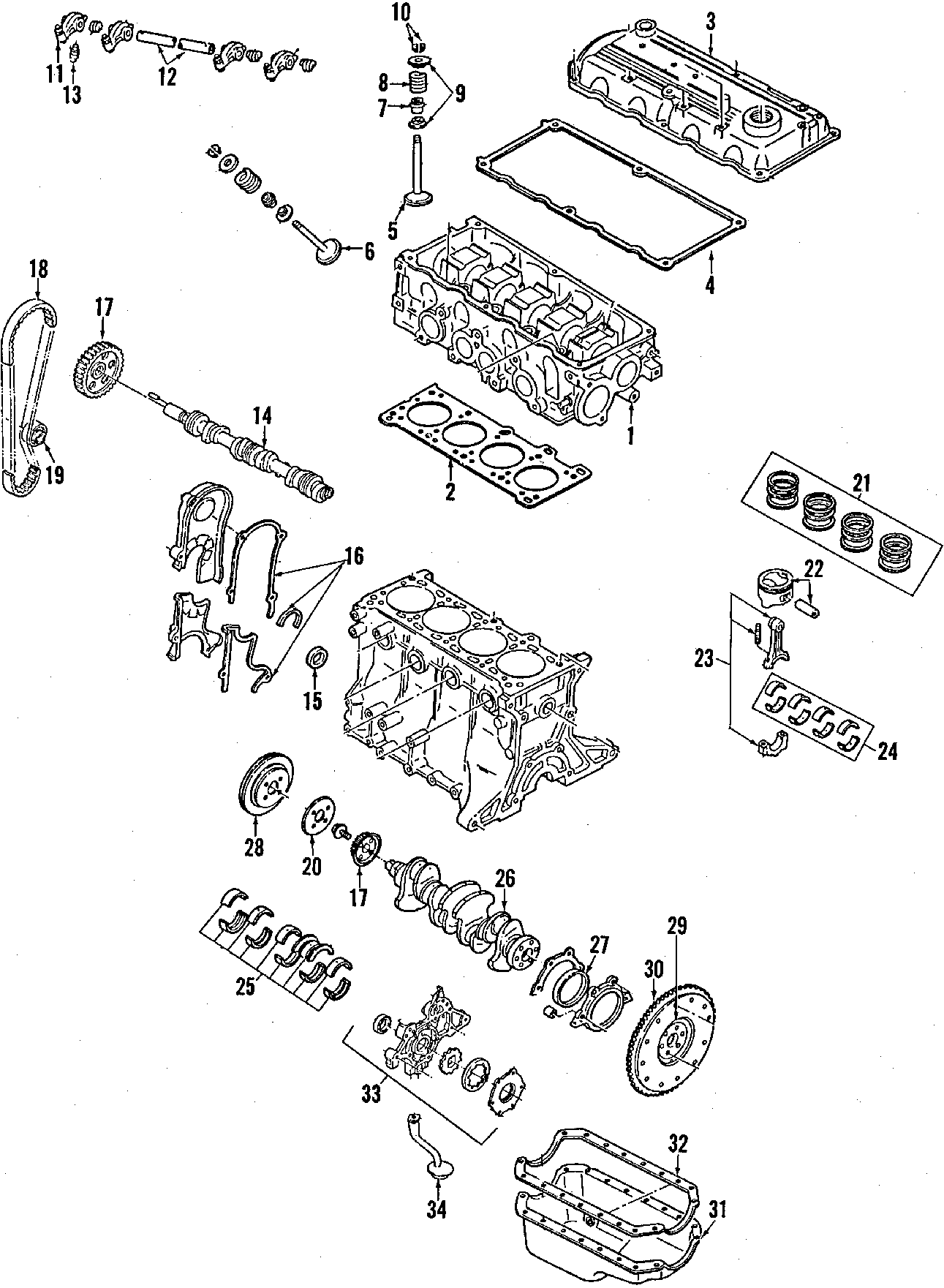 Mercury Tracer Engine  Manual Trans  Rings  Pistons