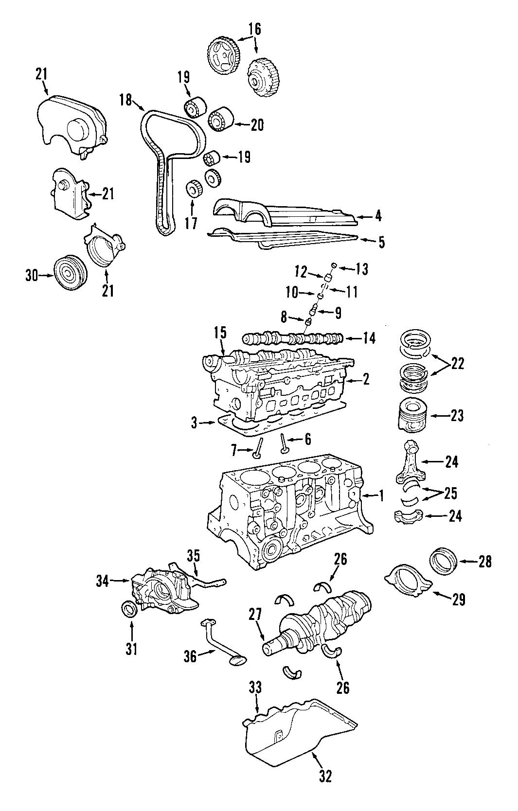 Ford Escort Engine Crankshaft Seal  2 0 Liter  2 0l Dohc