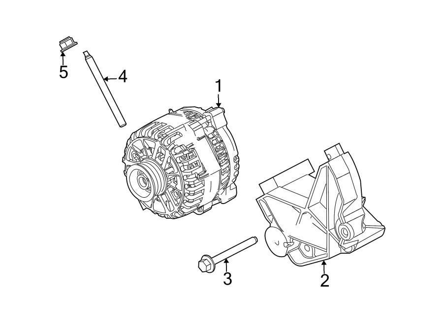 Ford Mustang Bolt  Mount  Alternator  Bracket  4 0 Liter