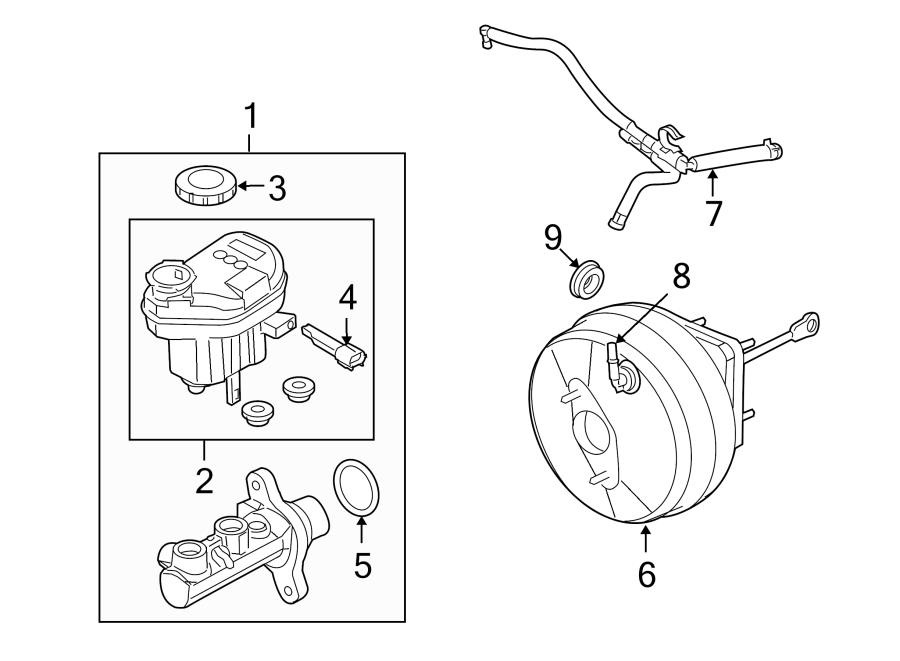Ford Taurus X Grommet  Booster  Brake  Power  Vacuum