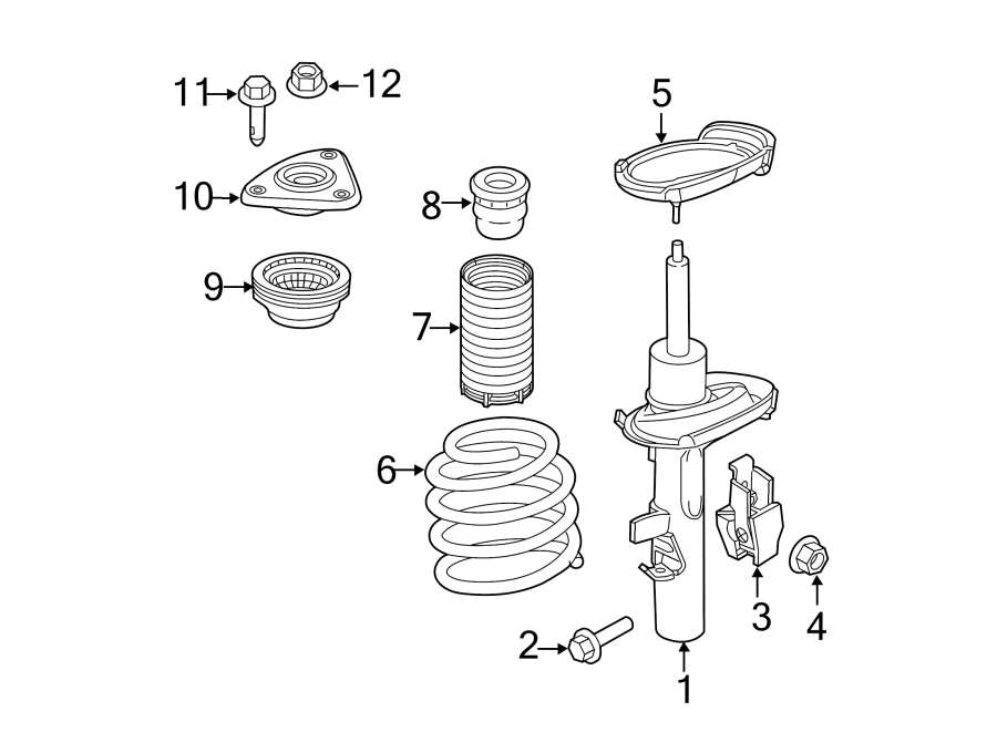 Ford Focus Coil Spring  Suspension  Code  Components