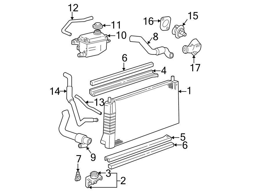 Ford Taurus Radiator Coolant Hose  Ohv  Liter  Upper