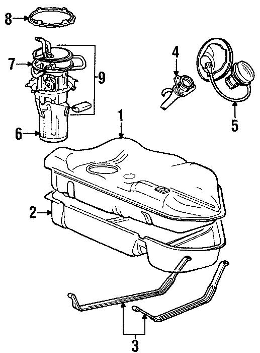 Ford Taurus Fuel Tank Cap  Locking