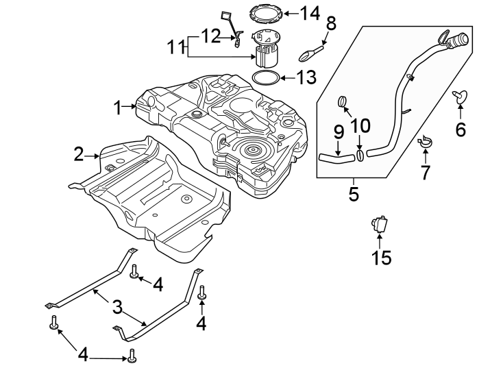 Ford Fusion Fuel Pump Driver Module  Liter  Awd  Fleet