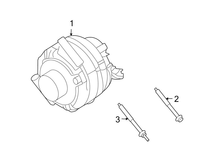 Lincoln Zephyr Alternator Bolt  3 0 Liter  Mount