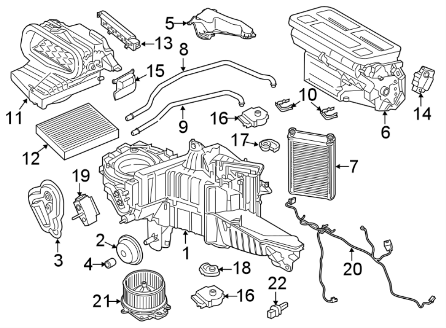 Ford Expedition Hvac System Wiring Harness  Dual