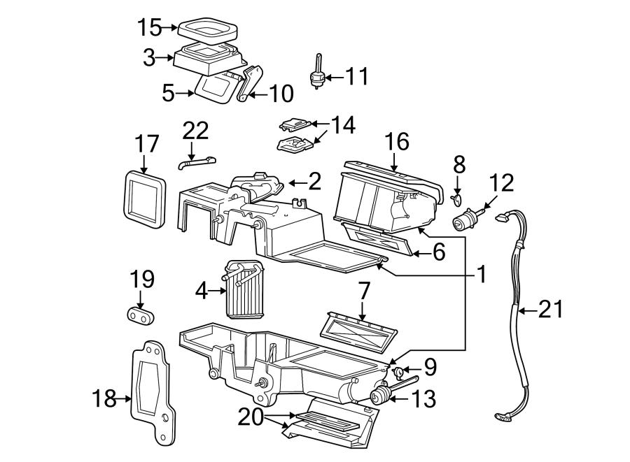 Ford Ranger Hvac Vacuum Harness  Heater  Evaporator