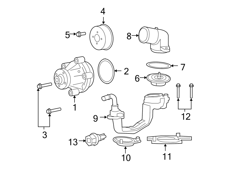 Ford F-350 Super Duty Engine Coolant Thermostat