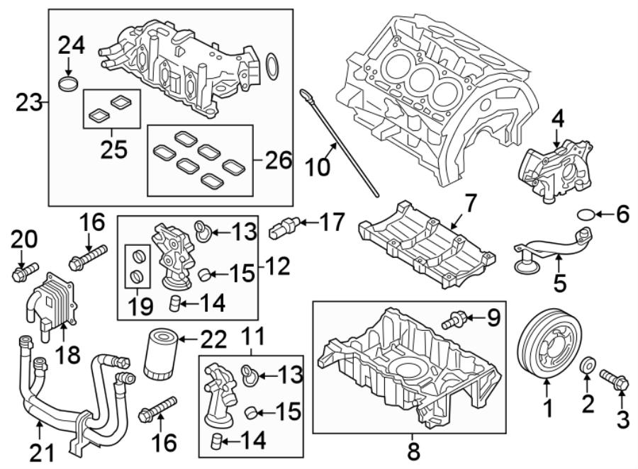 Ford Explorer Cooler Line  Engine Coolant Hose  Engine Oil