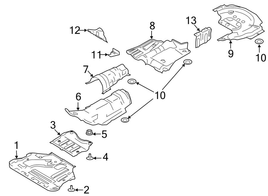 Ford Escape Fuel Tank Shield  Front  Liter  Partqualifier