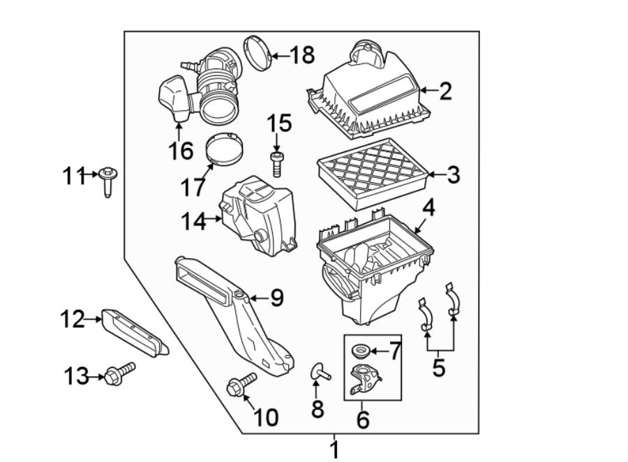 Ford Edge Engine Air Intake Hose  2 7 Liter  3 5 Liter  3