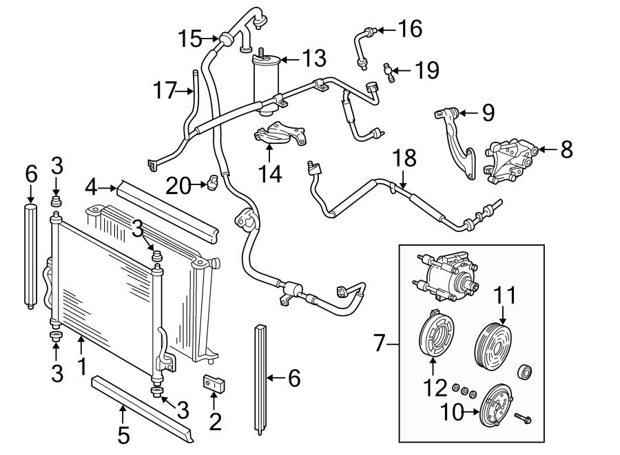 Ford F C Compressor Clutch Pulley  Liter