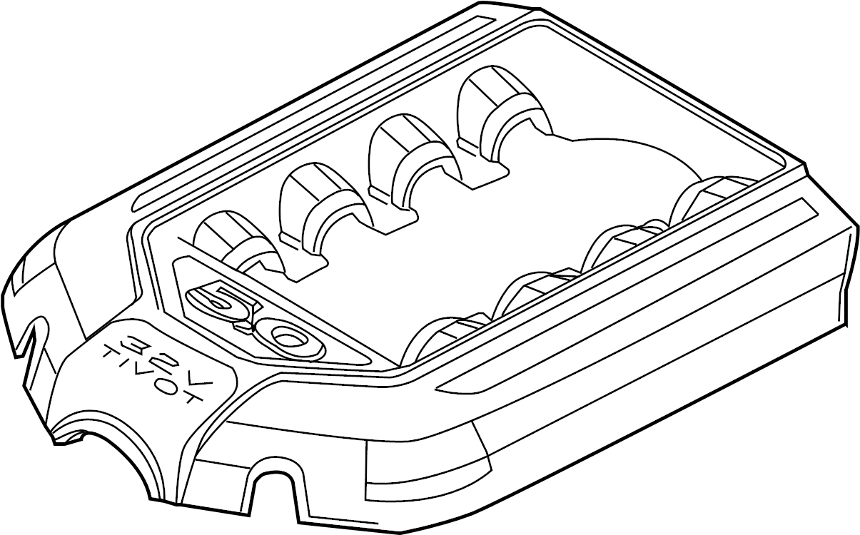Ford Mustang Engine Cover  5 0 Liter  Manual Trans  Appearance